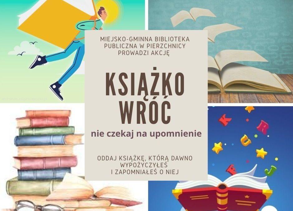 Książko wróć - plakat